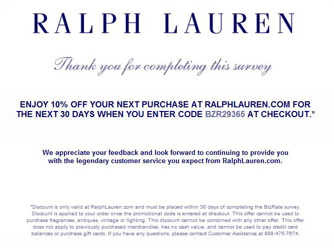 ralph lauren 10 off coupon code 2014. Black Bedroom Furniture Sets. Home Design Ideas